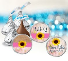 These small girl baby shower Hershey kiss labels are perfect for your backyard bbq party. The set includes 3 different designs. You will receive 108 printed labels, 36 of each design. A customized message is printed onto one of the designs. Just tell me at checkout what you would like the label to Shower Party, Baby Shower Parties, Hersey Kisses, Round Labels, Rustic Baby, Bbq Party, Backyard Bbq, Printing Labels, Birthday Party Favors