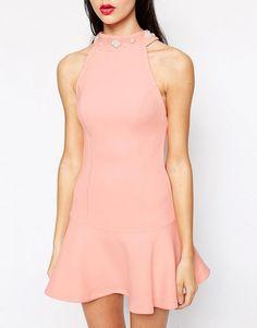 Ukulele Faux Pearl Embellished Dress