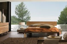 Contemporary Bedding   contemporary wooden bed 20 Chic Modern Bed Designs