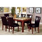 Coaster Furniture - Marble-Like 5 Piece Dining Set - 120310-4077BRN-5set  SPECIAL PRICE: $604.99