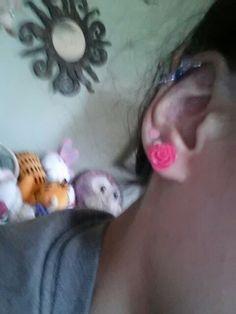 Love the rose earrings