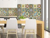 Self adhesive mosaic tile transfers stickers bathroom kitchen