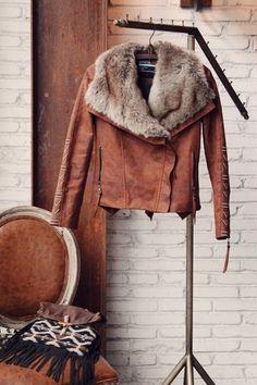 Aporia.As Brown Hippie Leather Jacket | Bohointernal.com
