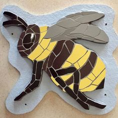Heard a #bee today ...  #bumblebee #spring #insect #mosaic #art #naturelovers