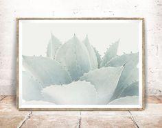Succulent Print  Baydreem. Succulent Wall Art Agave Print