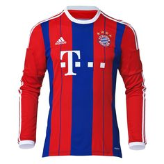 ba7eaa289 Support Bayern Munich in the club s official 14 15 home jersey from adidas. br    The German powerhouse returns for the 2014 2015 season in the club s ...