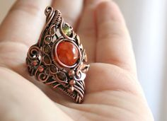 Dragon in the Forest dragon vein agate statement by bodzastudio
