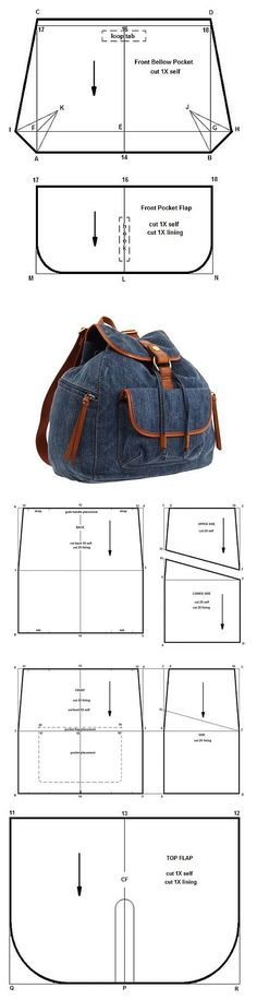 Denim backpack with his hands !Denim backpack with his hands ! Denim Backpack, Denim Bag, Backpack Bags, Mochila Jeans, Diy Bags Purses, Backpack Pattern, Denim Ideas, Denim Crafts, Recycle Jeans