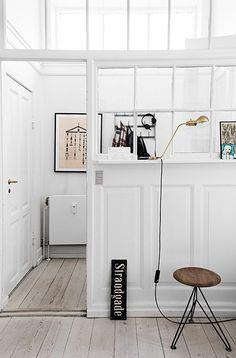 The Small Historic Home of Aiayu Co-Founder In Copenhagen - Nordic Design Interior Windows, Interior Walls, Home Interior, Interior Architecture, Interior Decorating, Interior Design, Garage Interior, Interior Work, Apartment Interior