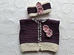 Ein schönes Set bestehend aus Weste und Stirnband, damit ist der kleine Liebling perfekt für den Frühling ausgestattet. Die kleinen Blümchen lassen das Ganze schön verspielt wirken ,genau richtig für kleine Mädchen . Arbeitet man das Set in anderen