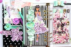 Prima's PPP + Planners? Oh, yes! Look at this beautiful page by Robin, inspired by the product pick!