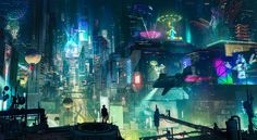 Cyberpunk City by artursadlos on @DeviantArt