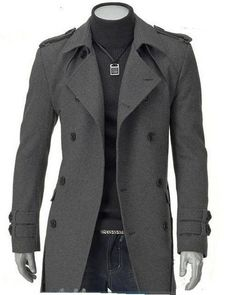7fd1bcea807 Mens Overcoat Lapel Collar Double Breasted Long Sleeves Woolen Men Overcoat  Discount Online Shopping Moda Fashion