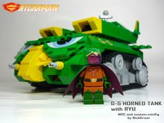 G-5 Horned Tank with Ryu: A LEGO® creation by NickGreat :) : MOCpages.com