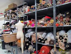 Ralph Rucci's design studio - his collection proudly made in the US of A