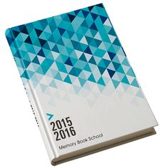 Prism - This blue gradient geometric yearbook cover will dazzle and excite for years to come.