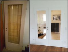 Door restoration. Replace glass, fresh paint and a new handle.  Makes all the difference!
