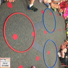 This is activity can be used when introducing number bonds. Students move in out of the hula-hoops and on the paths to create real life number bonds.