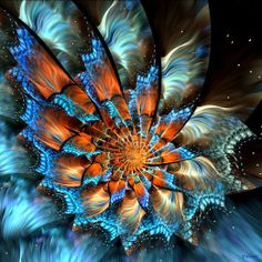 Examples of Fractals | Fractalflowers17+in+35+Beautiful+Examples+of+Fractal+Flowers.jpeg