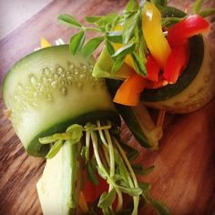 Raw Cucumber Rolls - if I ever bother to pull out my food processor again I will totally do this!
