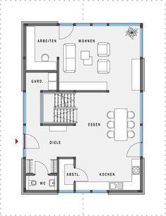 Moderne architektur grundrisse  moderne Architektur Bauplan Grundriss Aussicht | Floorplan ...