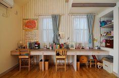 9歳、7歳、4歳の、三姉妹のキュートなお部屋。