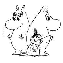 CUTE MOOMIN free coloring sheet -