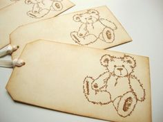 Hey, I found this really awesome Etsy listing at http://www.etsy.com/listing/72776916/teddy-bear-tags-rustic-baby-shower-old