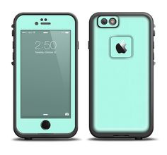 The Subtle Solid Green Skin Set for the Apple iPhone 6 LifeProof Fre Case from Design Skinz, INC.