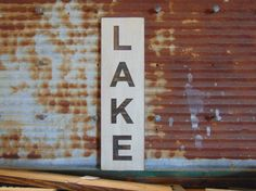 LAKE SIGN wood Routed sign distressed. Lake by FinDogCreations