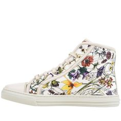 GUCCI Flora Hi Top Trainer at Flannels Fashion