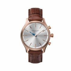 Kronaby extends its connected watch family for Autumn/Winter season - WatchPro Diamond Stores, Dark Tan, Silver Roses, Automatic Watch, Modern Jewelry, Stainless Steel Case, Rose Gold Plates, Tan Leather, Unisex