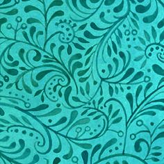 Mooshka Turquoise Leafy Swirl In the Beginning