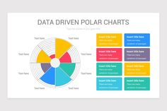 Data Driven Polar Charts PowerPoint Template | Nulivo Market Color Themes, Charts, Texts, Templates, Graphics, Stencils, Graph Of A Function, Vorlage, Captions