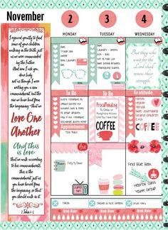 Printable Planner Stickers Kit Watercolor Ikat Coffee or Tea 4 PDF, 300 Stickers Bible Verses EC or Happyplanner Printable Planner Pages, Free Planner, Happy Planner, Printable Stickers, Free Printables, Bujo, Planner Layout, Planner Ideas, Planner Diy
