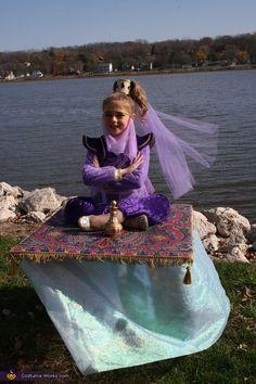 Genie on a Magic Carpet - Halloween Costume Contest