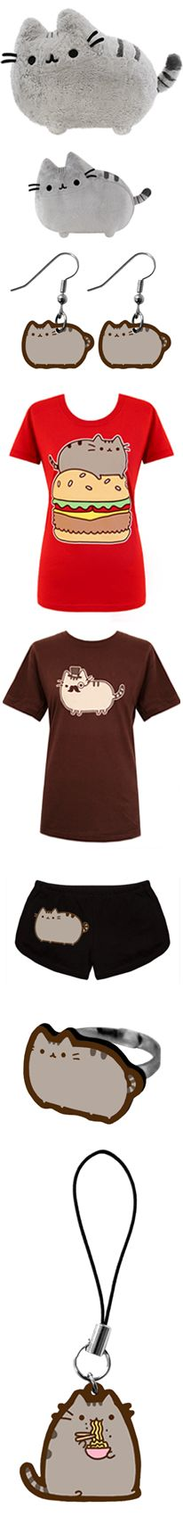 Pusheen the cat I like the tee shirts, shorts, and plushies!