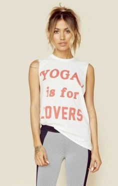 Yoga Is For Lovers Muscle Tee   The Laundry Room   Planet Blue