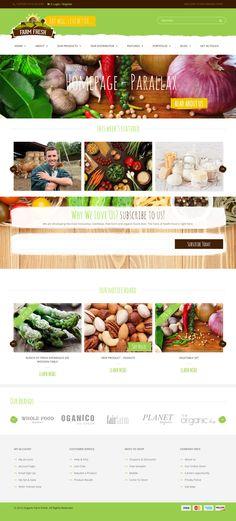 Farm Fresh is Premium Responsive Parallax Organic Food WordPress Theme. One Page. Video Background. WooCommerce. Bootstrap 3. Test free demo at: http://www.responsivemiracle.com/farm-fresh-premium-responsive-organic-products-wordpress-theme/