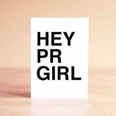Hey PR Girl Thank You Greeting Card | Fashion PR Shop PR Couture
