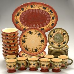 Image detail for -Tuscan Dreams by JCPenney - 33-Piece Dinnerware Set