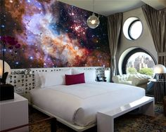 3D Gorgeous Galaxy photo wallpaper Custom Silk Wallpaper Starry Night Wall Mural Art Painting Hoom decor Kid Bedroom Living room