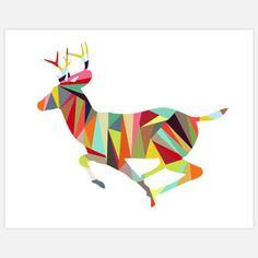 Colorblock Dearest 1 14x11 by Alex Clark. #Antler #Antlers