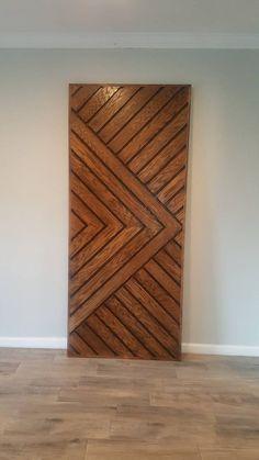 Wooden Main Door Design, Front Door Design, Flush Door Design, Main Entrance Door Design, Door Design Interior, Interior Barn Doors, Chevron Door, Casa Hotel, Pallet Furniture