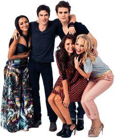 Bonnie & Damon & Stefan & Elena & Caroline