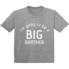 I'm Going To Be A Big Brother Shirt I'm Going To Be A Big Brother Shirt, Pregnancy Announcement, Big Brother Shirt, Funny Toddler Shirts, Toddler Shirts for Boys Funny Toddler, Toddler Humor, Maternity Dress Outfits, Dress For You, Brother, Pregnancy Announcements, Big, Mens Tops, T Shirt