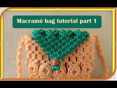 Trendy macrame flip purse with belt tutorial part 1