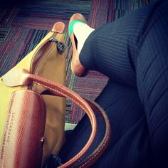 Longchamp bag. Flat shoes. For traveling