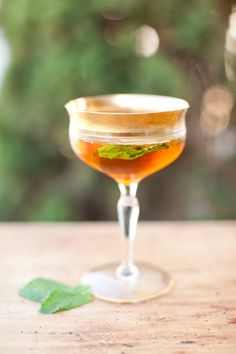 Ladylike Mint Julep -   2 dashes of bitters  1 tsp of maple syrup   1/2 shots of bourbon  Fresh mint  *In a martini shaker, muddle a few mint leaves, add bitters, maple syrup, and bourbon, shake well and serve up with a few mint leaves for garnish.