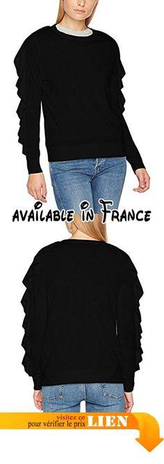 B0725KJVG1 : Seventy Girocollo Rousce Maniche Chemisier Femme Noir 42.